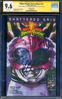 *SIGNED 2x Amy Jo Johnson / Kyle Higgins* CGC 9.6 Power Rangers 25 GRID Pink Var