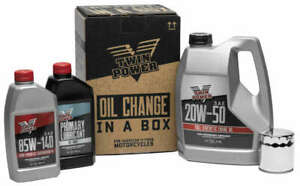 Twin Power Synthetic 20W50 Oil Change In A Box Kit Harley Heritage Softail 00-17
