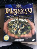 Majesty The Fantasy Kingdom Dim Big Box PC Game. Windows 95/98 Required. CD ROM
