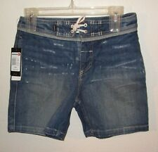NWT Quicksilver Boys Street Trunk Denim Shorts 30/16 Medium Wash MSRP$59
