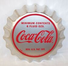 NEW 1998 COCA COLA ALUMINUM 3D SILVER BOTTLE CAP SIGN LIMITED EDITION OF 1000