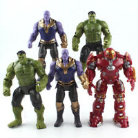 Marvel The Avengers Iron Man Hulkbuster Hulk Thanos PVC Action Figure Model Toy