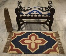 Handmade Tuscan 2x3 Feet Rug Out/In Door Mat & Oriental Yoga Mat