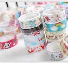 10 X paper Sticky Adhesive Sticker Decor Washi Tapes 15cm 3 meters s
