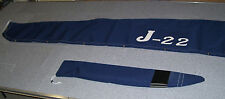 J-22 MAIN SAIL COVER SUNBRELLA fabric with sewn on Logo and TILLER COVER