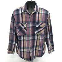 Big Smith Vintage Shirt Mens L Large Heavy Cotton Button Front Long Sleeve