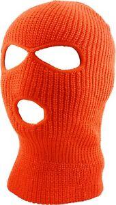 3 Hole Ski Mask Warm Thick Sherpa Fleece Lined Balaclava Winter Ski Hat