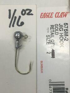 Crappie Jig Heads 1/16oz #2 gold or bronze hook 100ct
