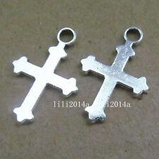 30pc Tibetan Silver Cross Charms Pendant Beads Jewellery Making Wholesale PL325
