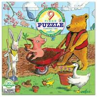 eeBoo 9 Piece Children's Jigsaw Recycled Board Puzzle - Planting Time Age 3+