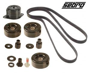 Drive Belt Kit w/ Tensioner Idler Roller Pulleys for Porsche 911 Boxster Cayman