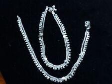 2 Fusskettchen aus Indien, Weissmetall, versilbert