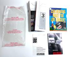 Super Nintendo SNES system Instruction Manual Booklet Poster Paper Inserts & Bag
