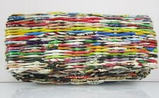 Purse Clutch Womens Made By Recycles Magazine Paper Clippings Vintage Look