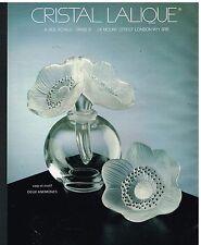Publicité Advertising 1987 Le Cristal Lalique Vase et motif Anémones