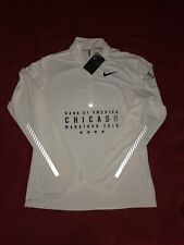 Chicago Marathon 2016 Dri-Fit Reflective Long Sleeve White Limited Size Medium M