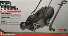 2PC OZITO™ 1000W Electric Lawn Mower Lawnmower & Grass Line Trimmer Kit 3YR WTY