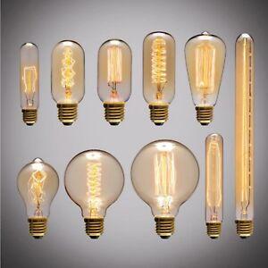 LAMPADA LAMPADINA  40W EDISON RETRO' VINTAGE CLASSICA ATTACCO E27 BIANCO CALDO