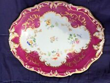 Mid 19th Century Staffordshire porcelain platter possible Ridgway no 4129