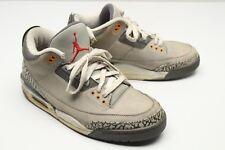 2006 Nike Air Jordan 3 LS Mens 9 US Cool Grey Sport Red Cement 315297-062 UK 8