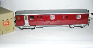 Spur 0 Hag 820, 821 Packwagen rot mit Beleuchtung sehr guter Zustand in OVP