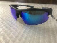 "$35.00 NWT Rawlings ""31"" Graphite Blue lenses Baseball Softball Sunglasses"