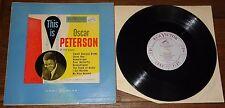 "OSCAR PETERSON ~ THIS IS OSCAR PETERSON ~ UK RCA VICTOR MONO 10"" LP 1952"