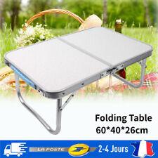 Table de camping de jardin pliable pliante en aluminium portable 60x40x26cm FR