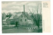 PA - BETHLEHEM PENNSYLVANIA UDB Postcard FIRST WATER WORKS in UNITED STATES