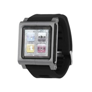 Aluminum Metal Watch Band Wrist Strap Kit Cover Case for iPod Nano 6 6th