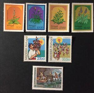 Portugal 1982 - Madeira stamps Flowers, O Brinco, Europa CEPT MNH