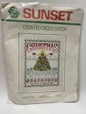 "New ListingSunset Counted Cross Stitch Christmas Tree Sampler Houseworth 11"" x 14"" No. 2905"