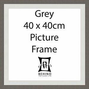 Handmade Grey Wooden Picture Frame With Mount - 40x40cm by Behind The Glass