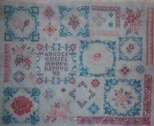Encantador francés Floral Sampler puntada cruzada patrón gráfico delicadas flores
