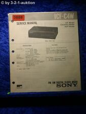 Sony Service Manual ICF C4W Clock Radio (#3888)