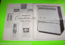 DUGRENIER CONSOLETTE 20 ORIGINAL LARGE CIGARETTE VENDING MACHINE FLYER BROCHURE