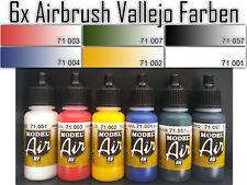 VALLEJO AIRBRUSH FARBEN  6 x 17ml ACRYLFARBEN WASSERBASIS MODEL  AIR GRUNDFARBEN