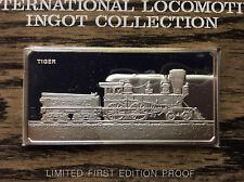 1974 Franklin Mint 1856 Tiger Locomotive Sterling Silver Ingot A4549