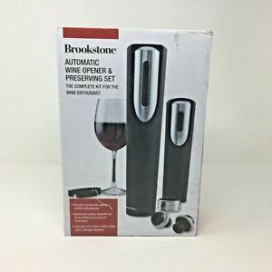 Brookstone Wine Preserver Gift Set- Wine Opener, Wine Preserver, 2 airstop corks