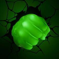 3d FX Deco Wall Room DreamMaster Marvel Avengers Hulk Right Fist LED Night Light