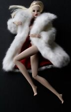 "FASHION ROYALTY / AWESOME WHITE ""FUR"" COAT / FITS BARBIE / MINT"