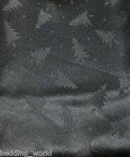 FIR TREE BLACK TABLE CLOTHS DOTS XMAS DINNER PARTY FESTIVE CHRISTMAS OCCASIONS