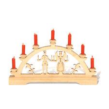 "Rauta 17071 Mini Schwibbogen ""Engel Bergmann"" mit roten Kerzen Puppenhaus NEU! #"