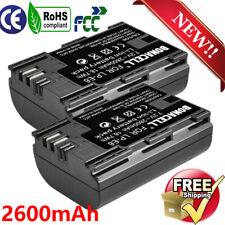 2× 2600mAh Li-Ion LP-E6 Battery PACK For Canon 6D 7D 60D 60Da 70D 80D 5D Mark II