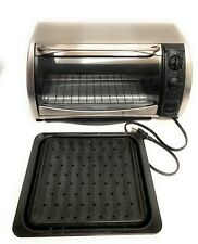 Black & Decker CTO650 Toaster Oven Stainless Steel 1500 Watts With Roasting Pan