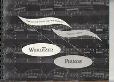 1960 WURLITZER Pianos Brochure Console Spinet Player Rudolph Melville Clark RARE