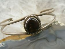 Vintage Taxco Sterling Silver Fire Agate Cuff BRACELET Eagle 183 Cheo