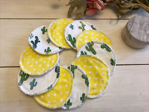 Reusable Make Up Pads  Face  Wipes X 10  - Washable &  Eco Friendly