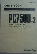 KOMATSU PC75UU-2 Excavator PARTS MANUAL