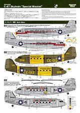 Rocketeer Decals 1/144 DOUGLAS C-47 SKYTRAIN SPECIAL MISSION MARKINGS